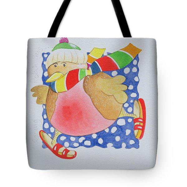 Snow Robin Tote Bag by Tony Todd