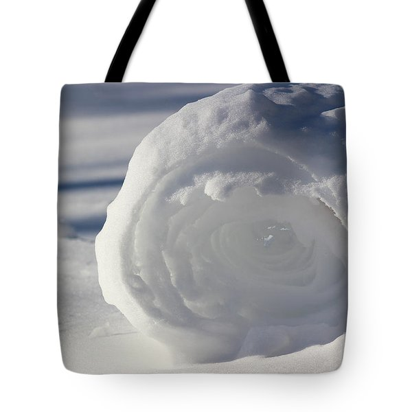 Snow Roller In Late Afternoon Tote Bag