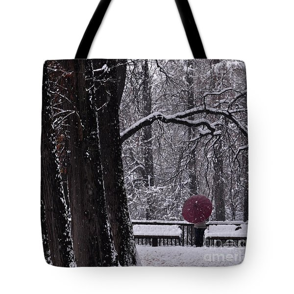 Tote Bag featuring the photograph Snow by Simona Ghidini