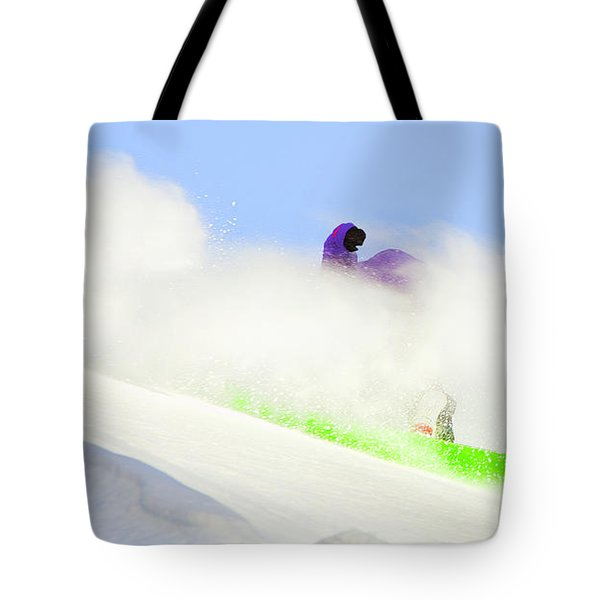 Snow Spray Tote Bag