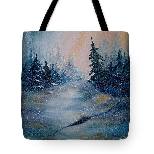 Snowstorm Tote Bag