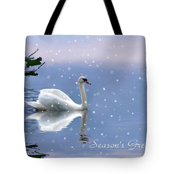 Snow Swan II Tote Bag