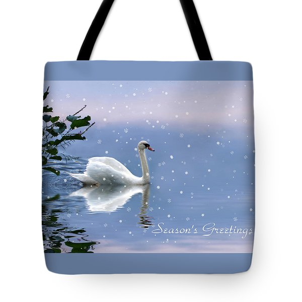 Snow Swan  Tote Bag