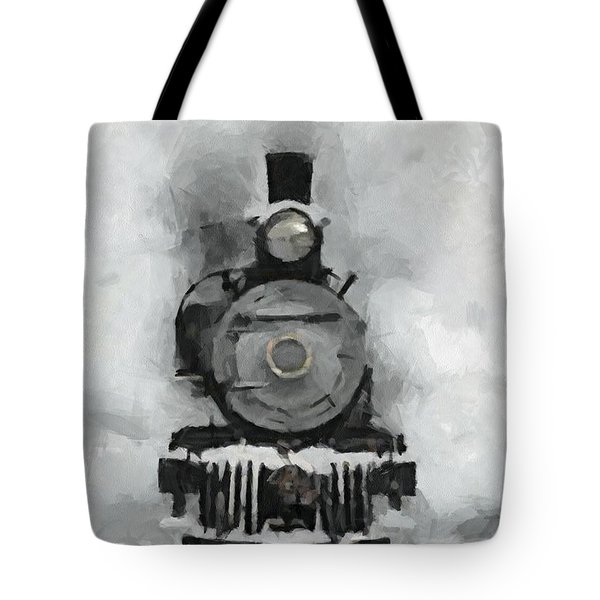 Snow Train Tote Bag by Dragica  Micki Fortuna