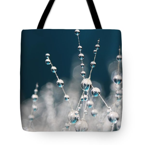 Snow White And Ice Blue Tote Bag