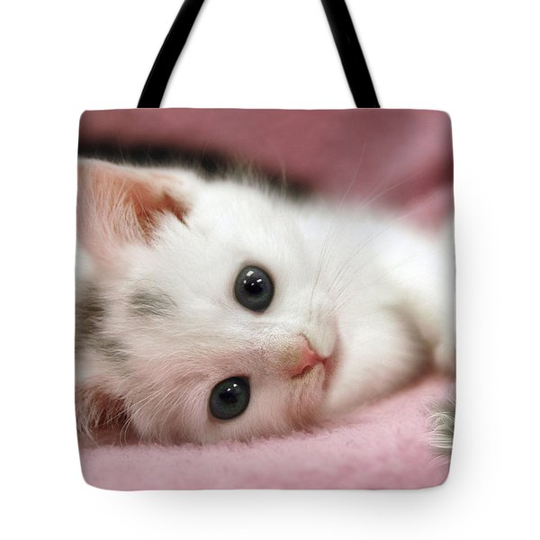 Tote Bag featuring the photograph Snow White by Elaine Manley