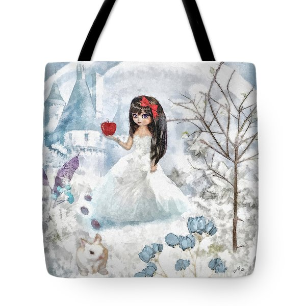 Snow White Tote Bag by Mo T
