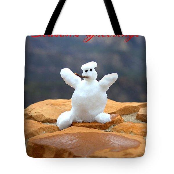 Snowball Snowman Tote Bag
