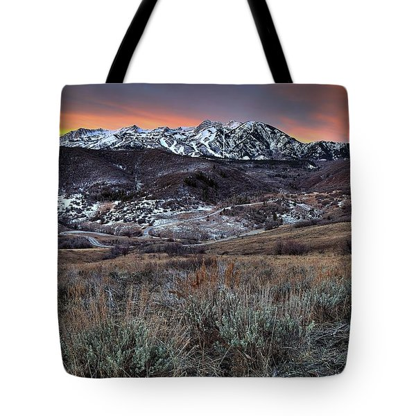 Snowbasin Fire And Ice Tote Bag