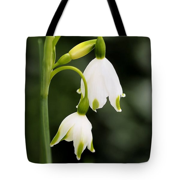 Snowbells In Spring Tote Bag