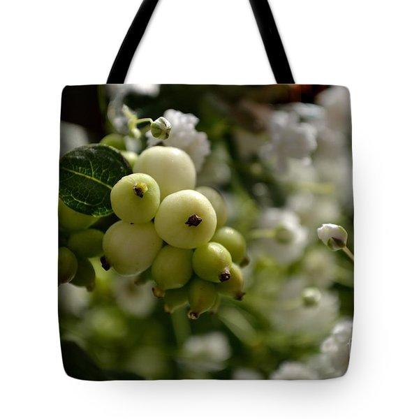 Snowberries Tote Bag