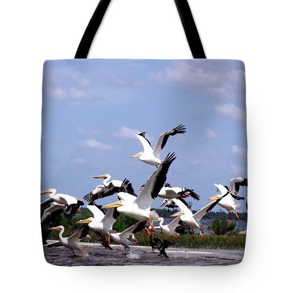 Snowbirds Heading South Tote Bag