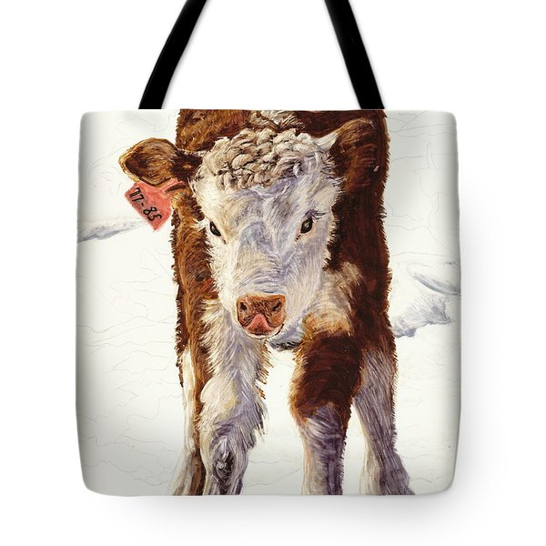 Country Life Winter Baby Calf Tote Bag