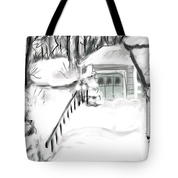 Snowbound Tote Bag by Jean Pacheco Ravinski