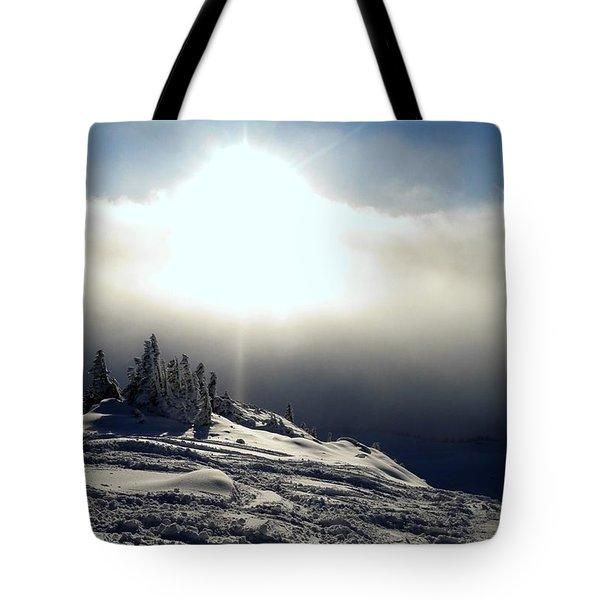 Snowcloud Sunburst Tote Bag