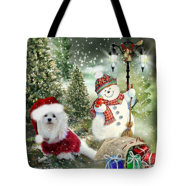 Snowdrop And The Snowman Tote Bag