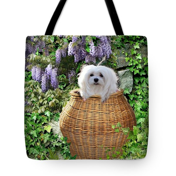 Snowdrop In A Basket Tote Bag