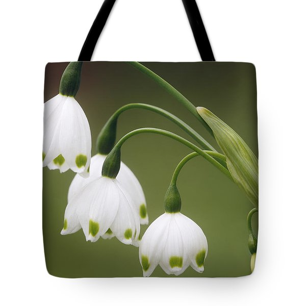 Snowdrops Tote Bag by Jaki Miller