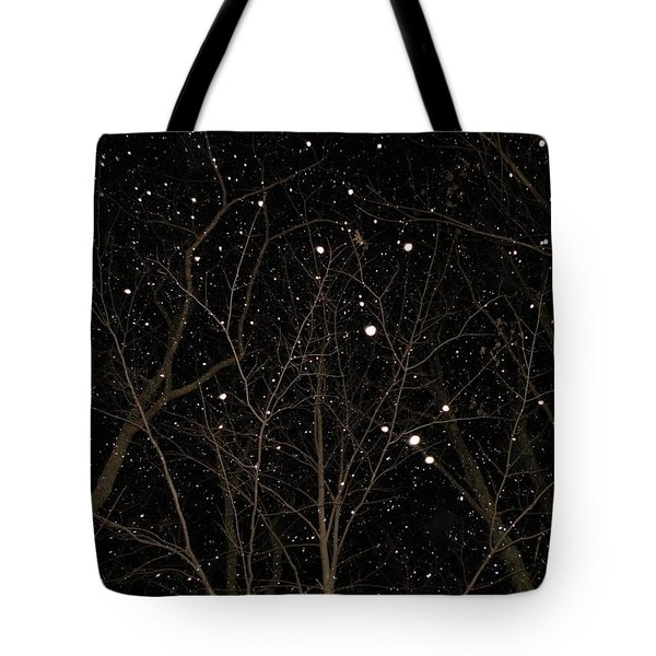 Snowfall Tote Bag by Carlee Ojeda
