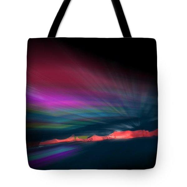 Snowfence Borealis Tote Bag
