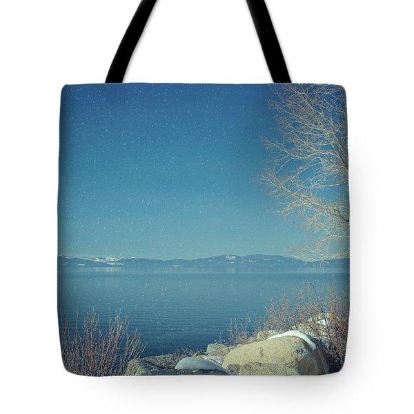 Snowing In Tahoe Tote Bag