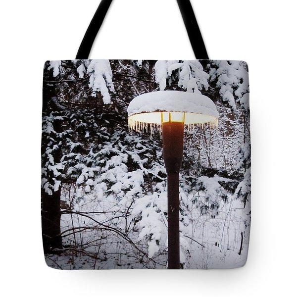 Snowlight Tote Bag by Avis  Noelle