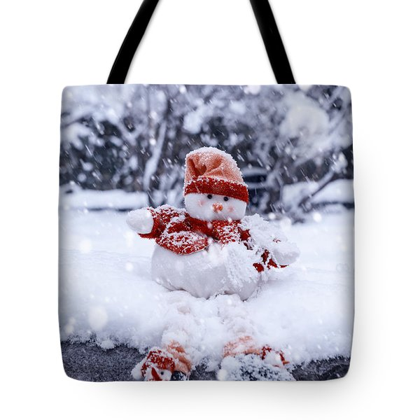 Snowman Tote Bag by Joana Kruse