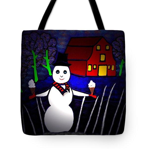 Snowman Tote Bag by Latha Gokuldas Panicker