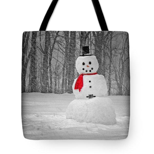 Snowman Tote Bag by Steven Michael