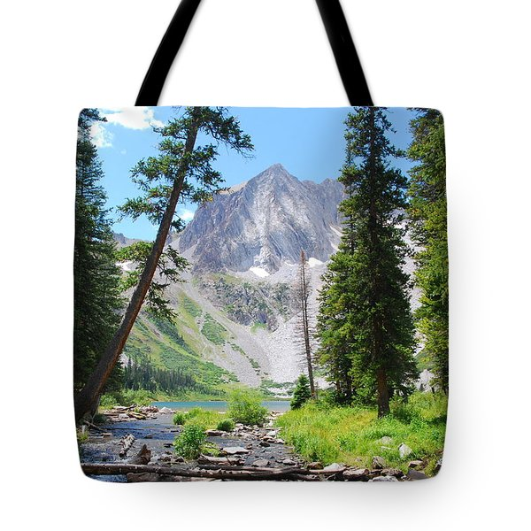 Snowmass Peak Landscape Tote Bag