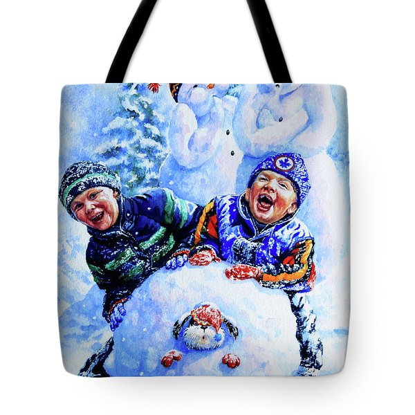 Snowmen Tote Bag by Hanne Lore Koehler