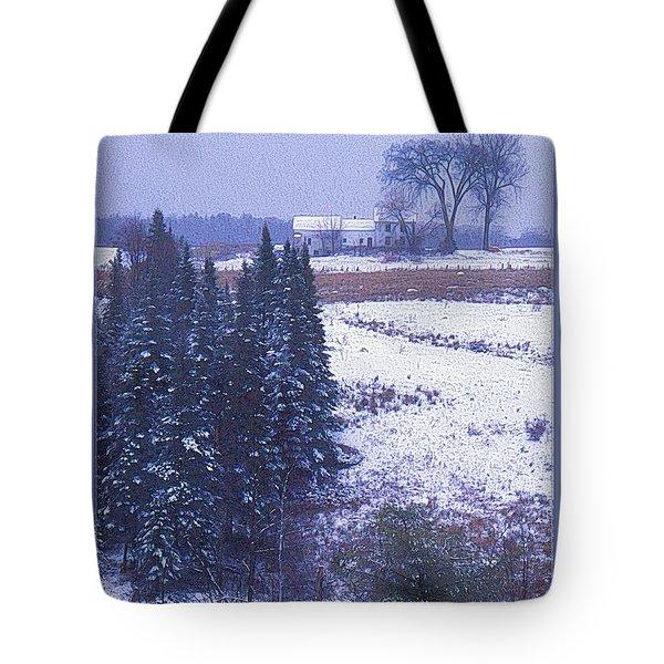 Snow's Arrival Tote Bag by Joy Nichols