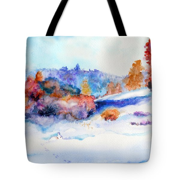 Snowshoe Day Tote Bag