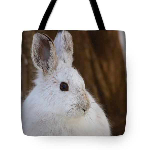 Tote Bag featuring the photograph Snowshoe Hare by Nature and Wildlife Photography