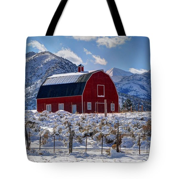 Snowy Barn In The Mountains - Utah Tote Bag