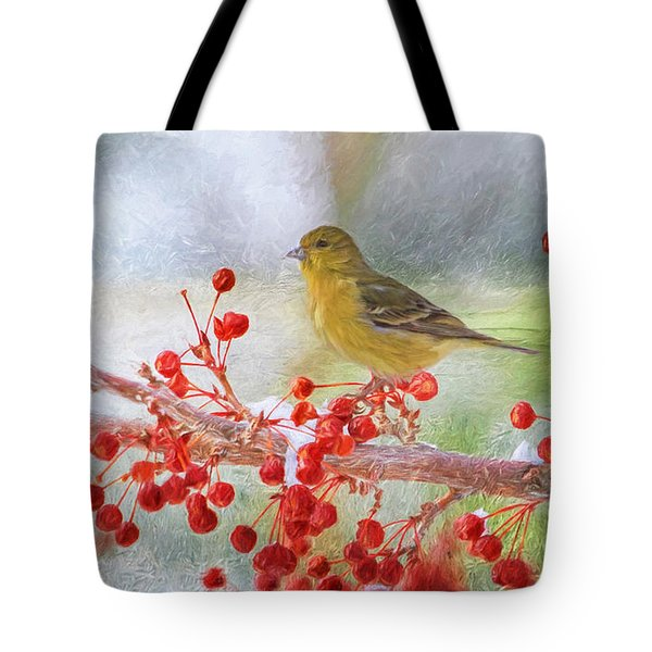 Snowy Beak Tote Bag by Donna Kennedy
