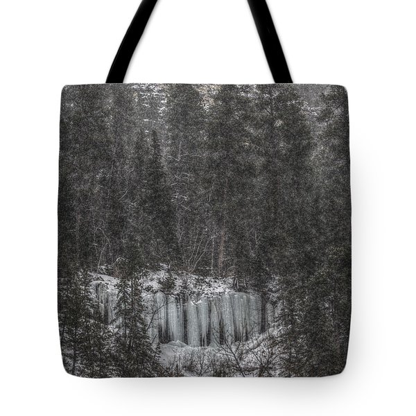 The Snowy Cliffs Of Spearfish Canyon South Dakota Tote Bag