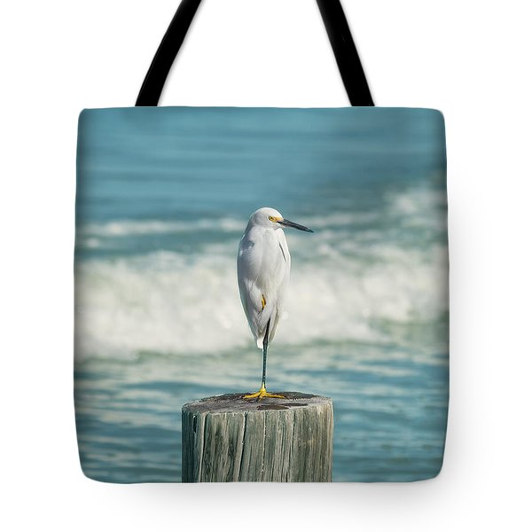 Snowy Egret - Naples Beach Tote Bag