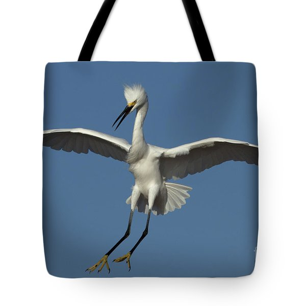 Tote Bag featuring the photograph Snowy Egret Photo by Meg Rousher