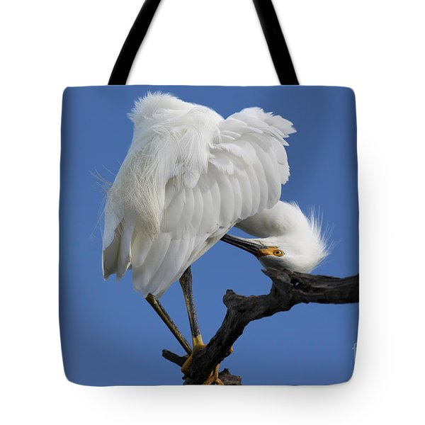 Tote Bag featuring the photograph Snowy Egret Photograph by Meg Rousher