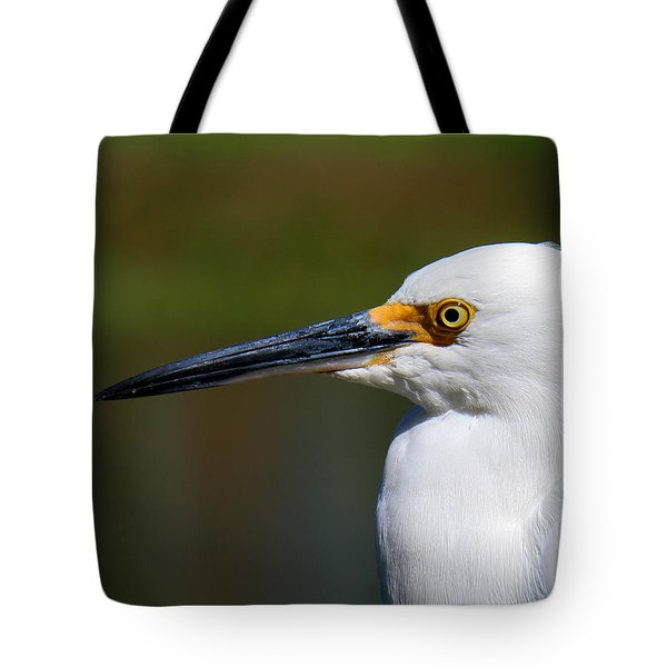 Tote Bag featuring the photograph Snowy Egret Portrait by Bob and Jan Shriner