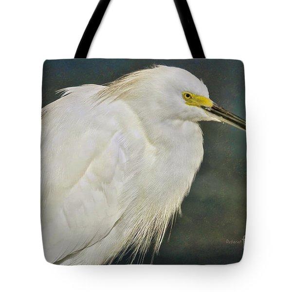Snowy Egret Portrait Tote Bag