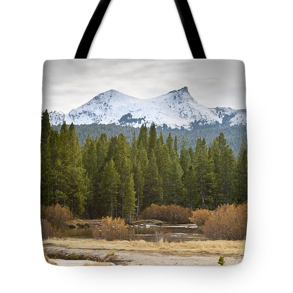 Tote Bag featuring the photograph Snowy Fall In Yosemite by David Millenheft