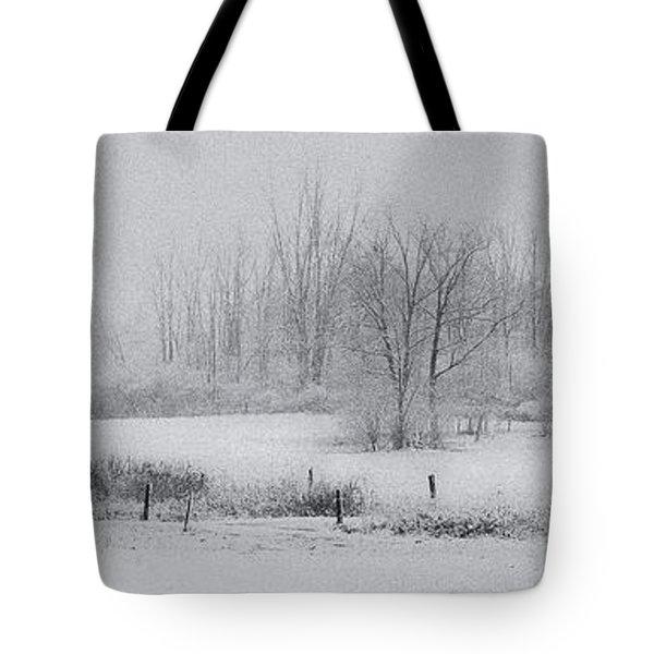 Snowy Fields Tote Bag