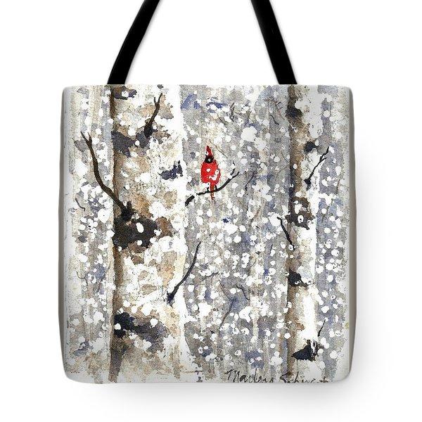 Snowy Hello Tote Bag