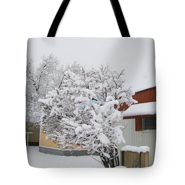 Snowy Lilac Tote Bag by Jewel Hengen