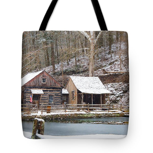 Snowy Morning In The Woods Tote Bag