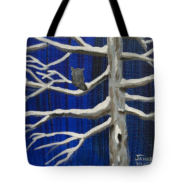 Snowy Night Tote Bag by Jaime Haney