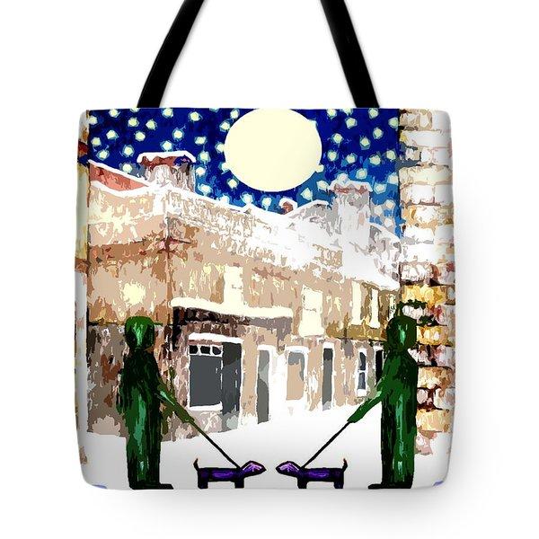 Snowy Night Tote Bag by Patrick J Murphy