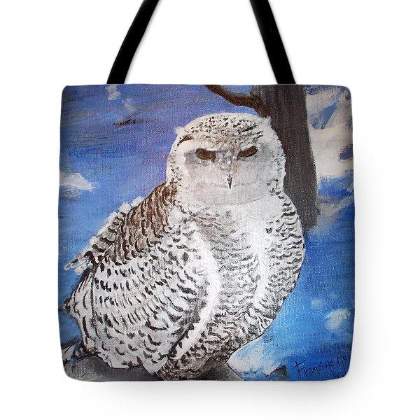 Snowy Owl . Tote Bag by Francine Heykoop